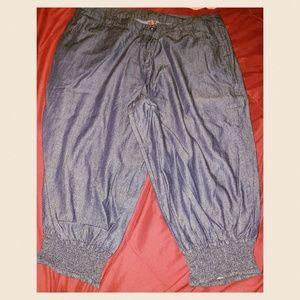 Denim - SOLD! Denim joggers worn once!